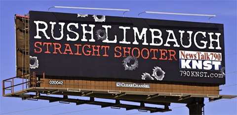 Rush Limbaugh's 'Straight Shooter' Tucson Billboard (PHOTO)