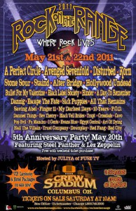 Rock On The Range 2011 : Rock Star Line Up Announced