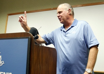 Rush Limbaugh Poked Fun at Michelle Obama's Waistline